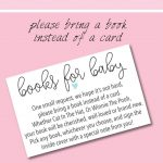 "9 ""bring A Book Instead Of A Card"" Baby Shower Invitation Ideas In   Free Printable Book Themed Baby Shower Invitations"