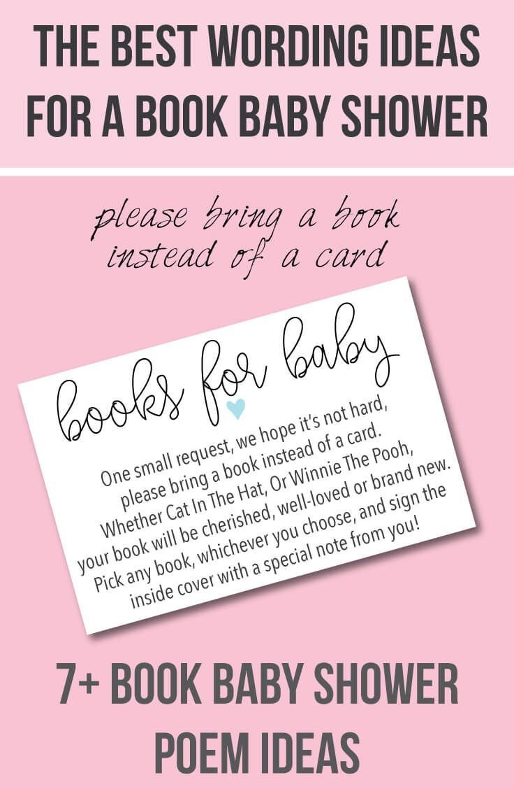 "9 ""bring A Book Instead Of A Card"" Baby Shower Invitation Ideas In - Free Printable Book Themed Baby Shower Invitations"