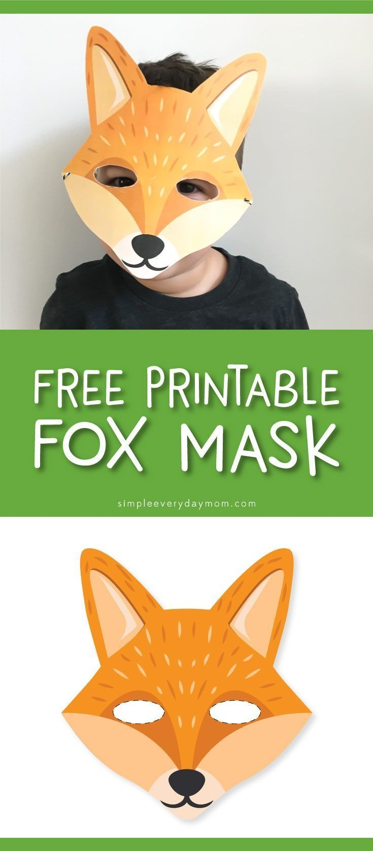9 Camping Printables For Kids That'll Give You Some Quiet Time - Free Printable Fox Mask Template