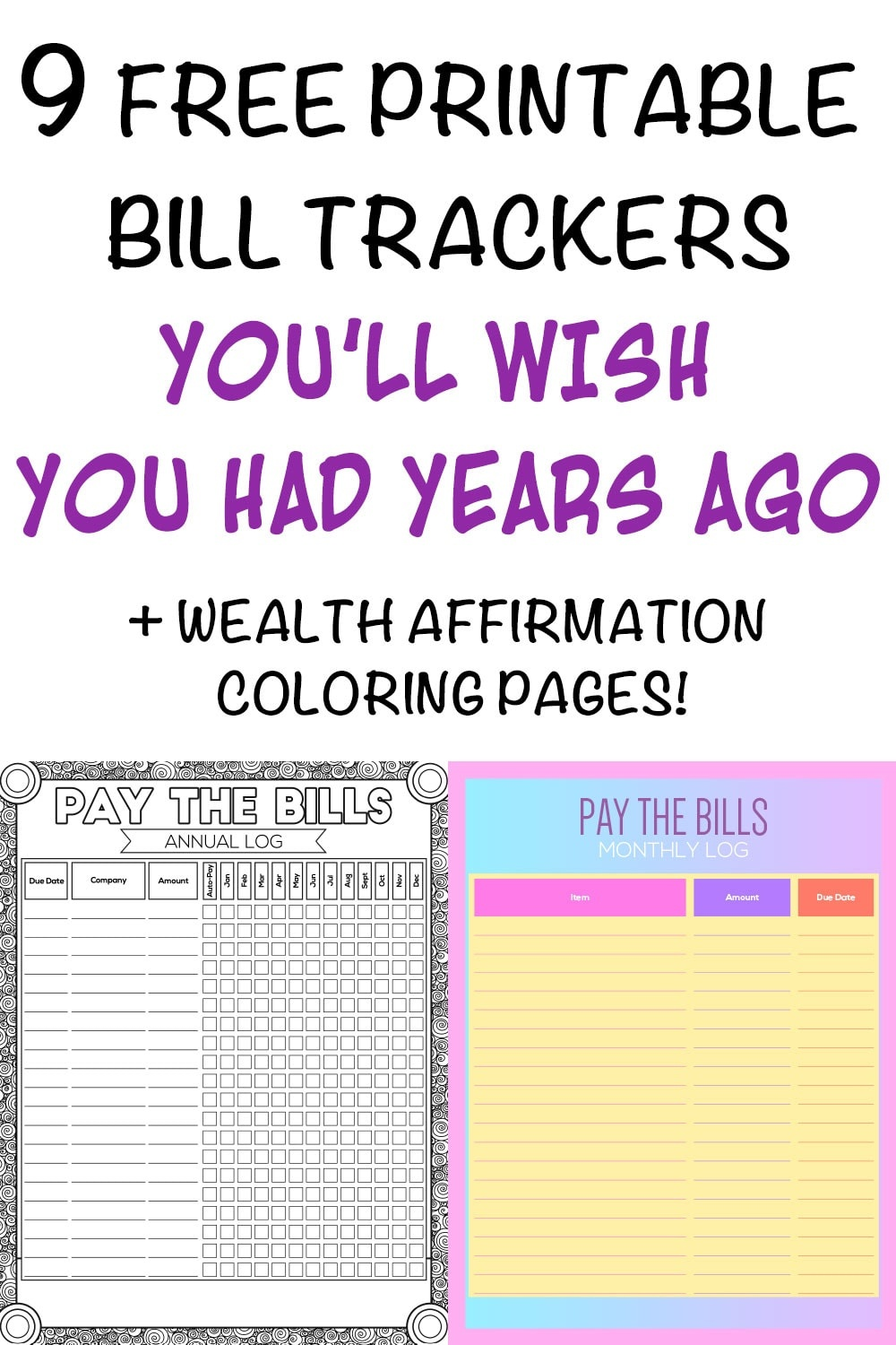 9 Printable Bill Payment Checklists And Bill Trackers - The Artisan Life - Free Printable Bill Tracker