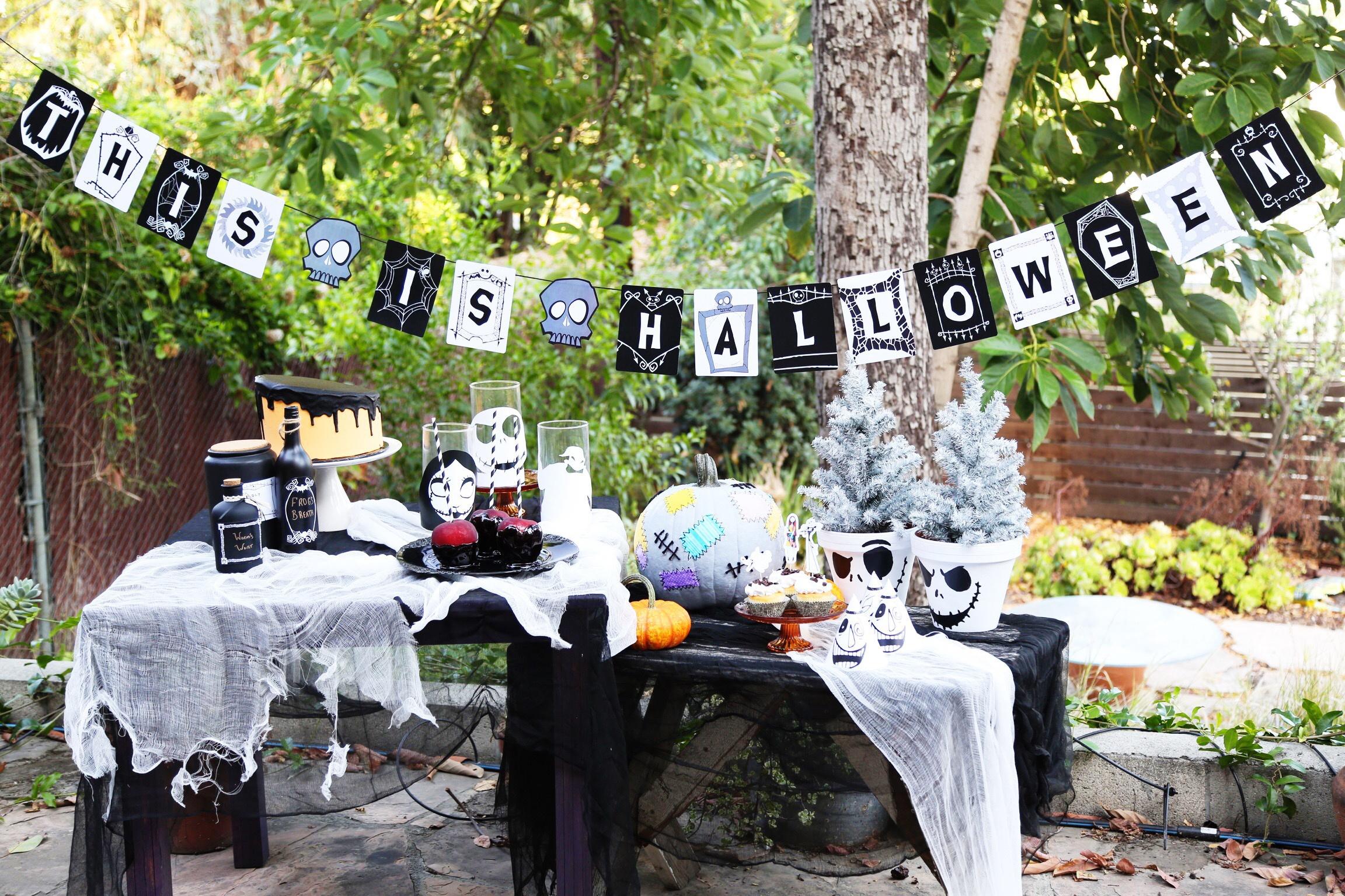 95+ Disney Halloween Birthday Invitations - Halloween Birthday Party - Free Printable Nightmare Before Christmas Birthday Invitations
