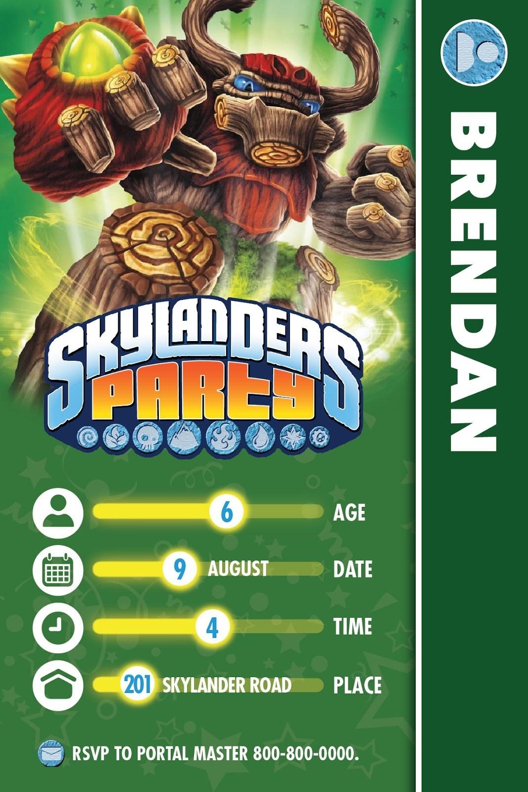 95+ Skylanders Birthday Invitations Printable - Some Of The Best - Free Printable Skylander Invitations