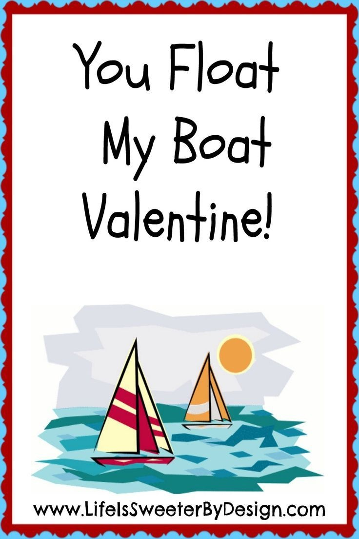 A Darling Valentine For Boat Lovers! This Free Printable Valentine - Free Printable Boat Pictures