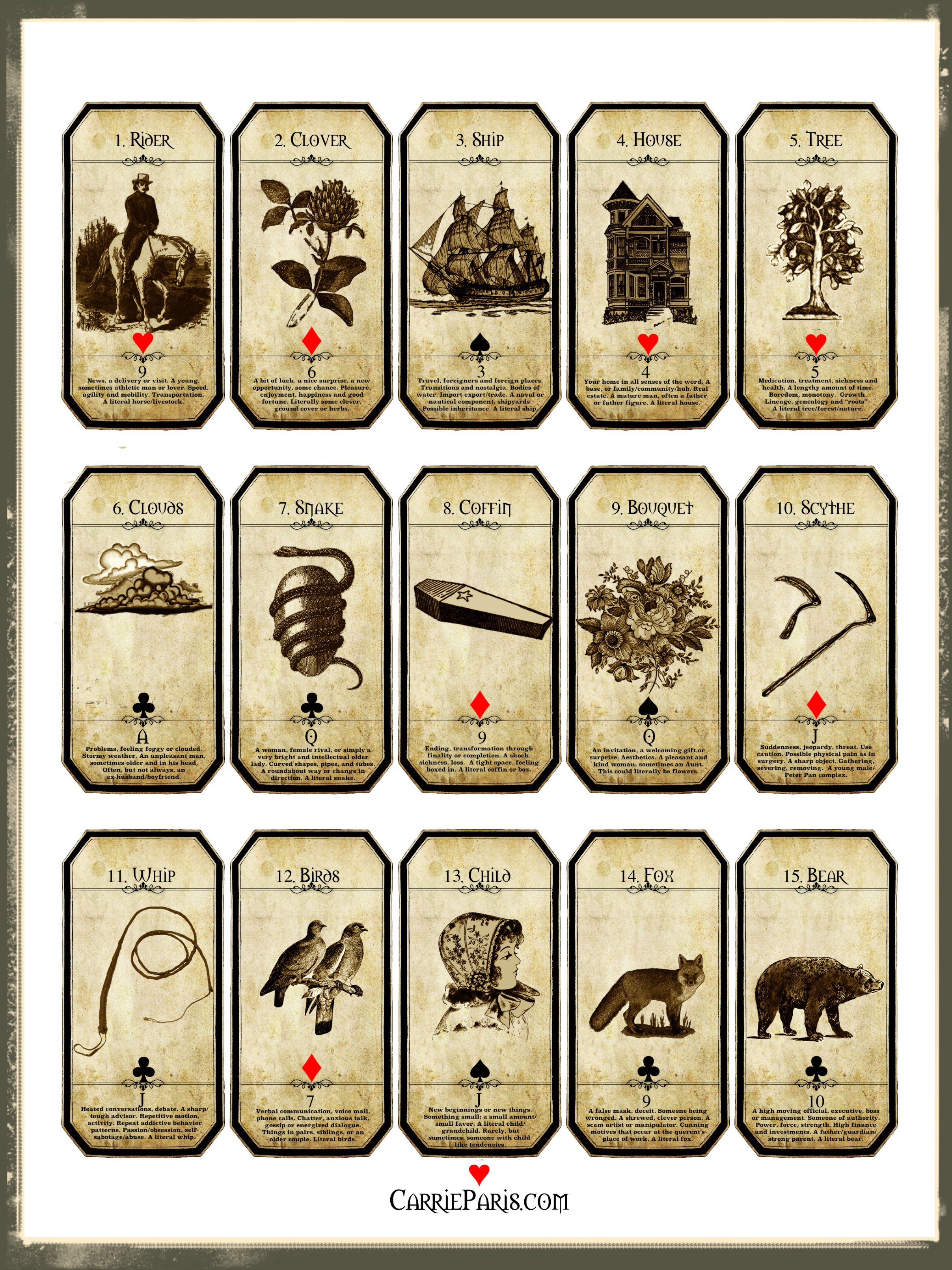 A Free Holiday Learning Deck - Carriepariscarrieparis - Printable Tarot Cards Pdf Free