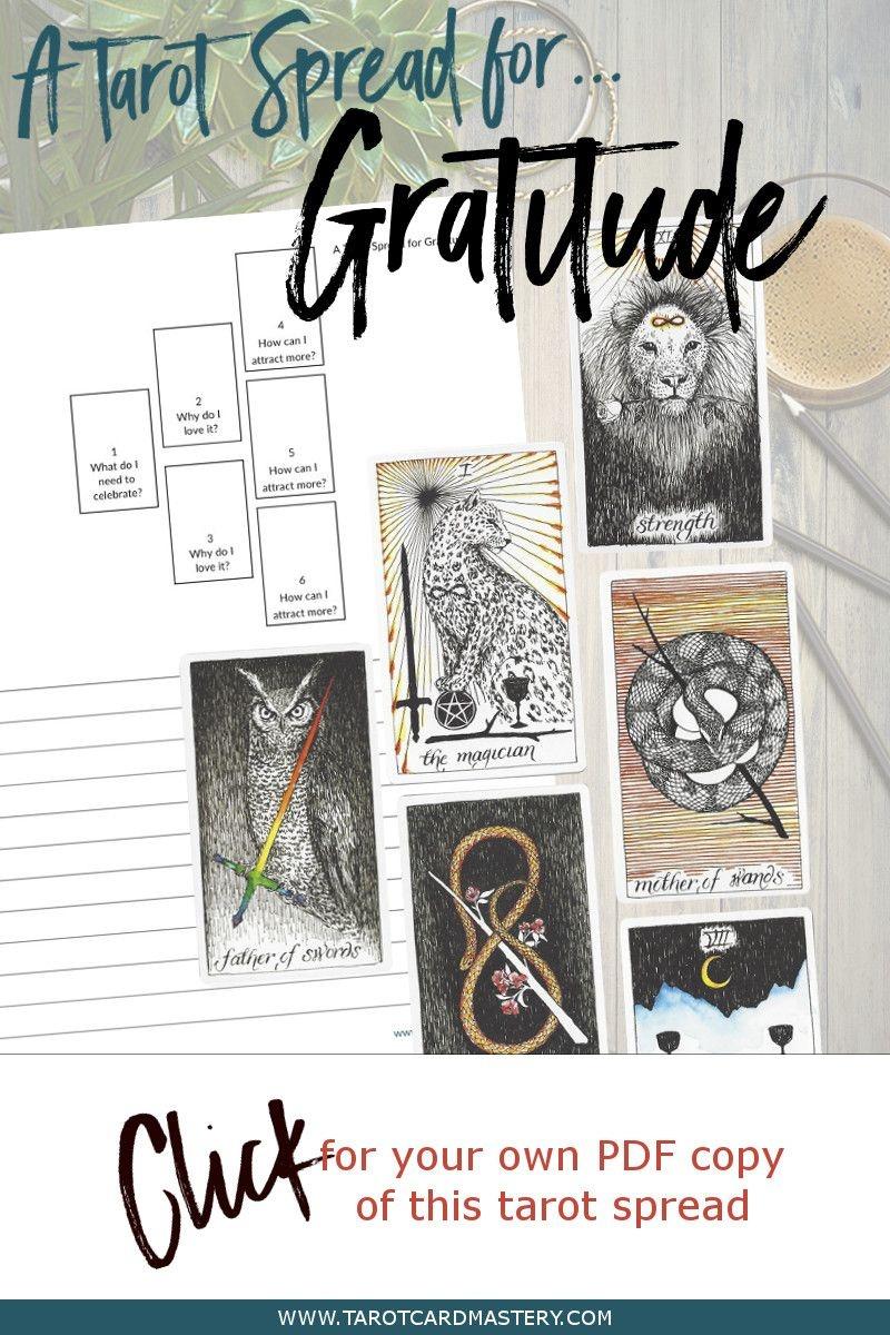 A Tarot Spread For Gratitude | Tarot Card Spreads | Tarot Spreads - Free Printable Tarot Cards