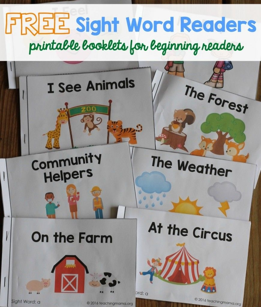 A Ton Of Sight Word Readers For Free! Great For Beginning Readers - Free Printable Pre K Reading Books