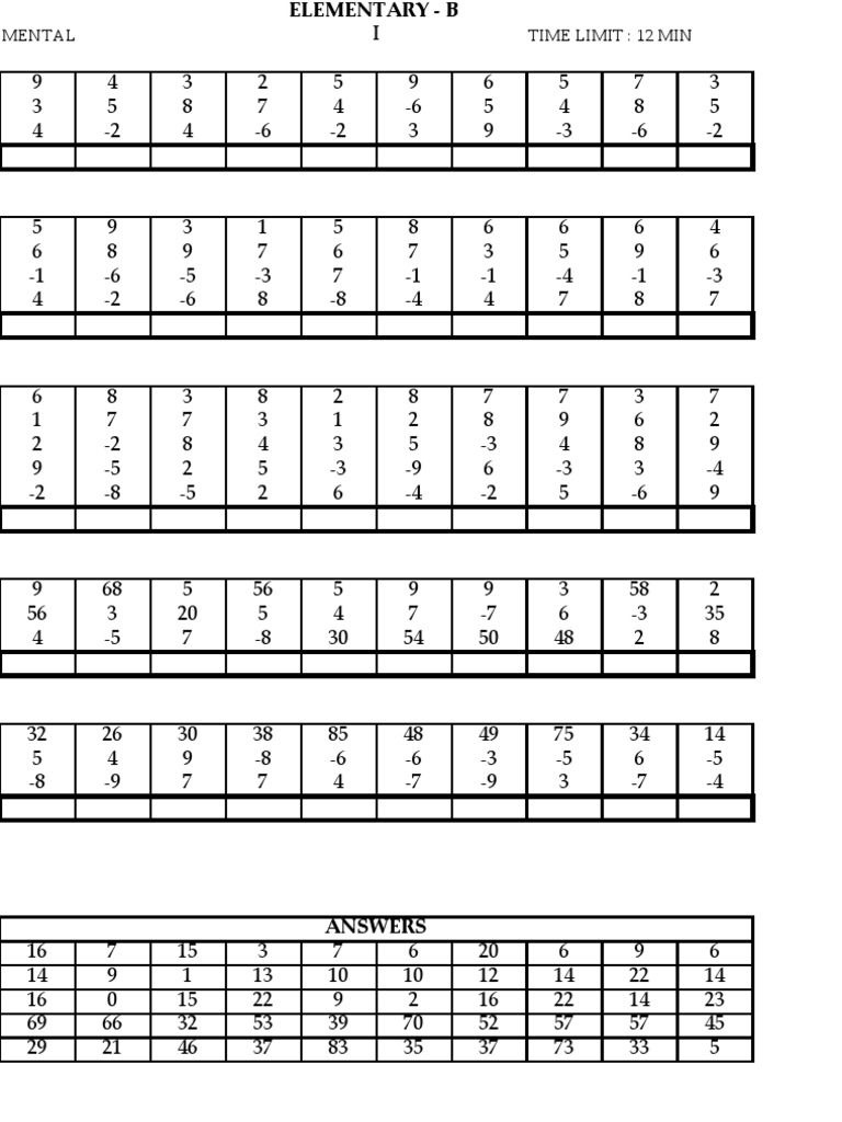 Abacus Maths Level 2 Worksheets Ucmas Elementary Aucmas Bucmas - Free Printable Abacus Worksheets