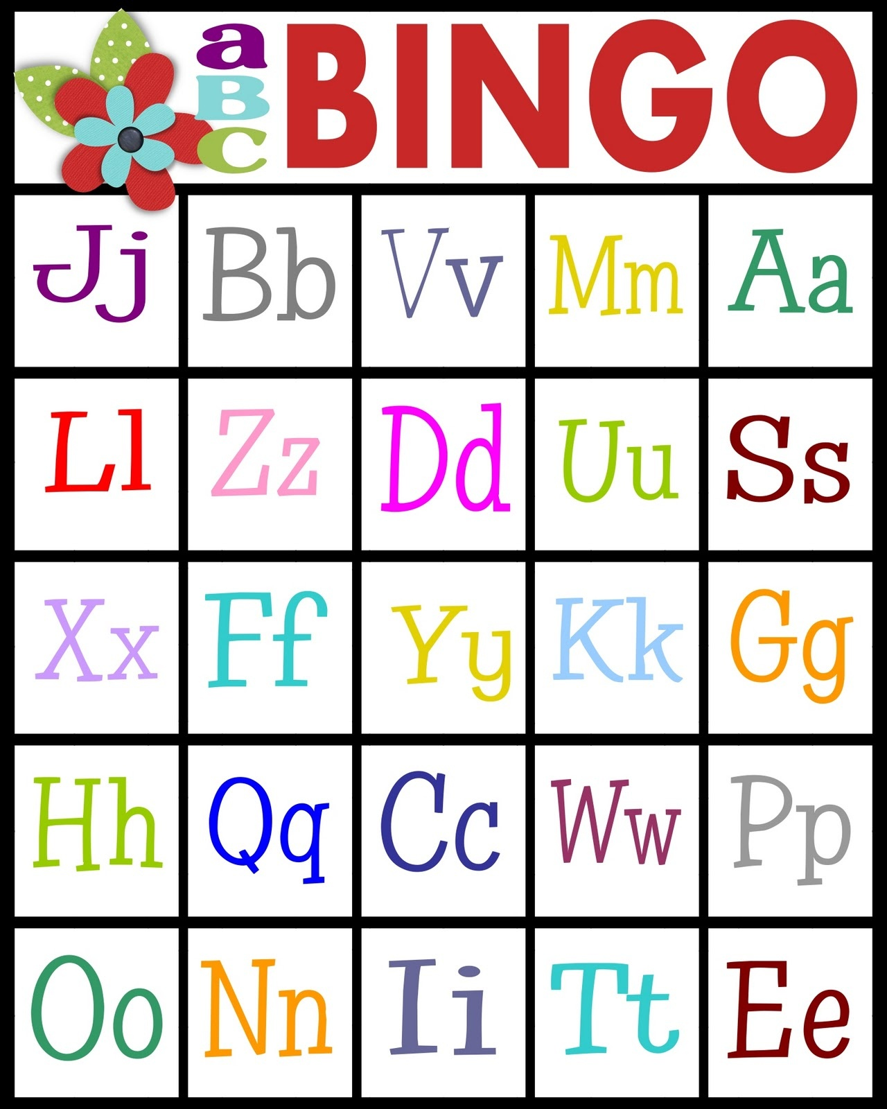 Abc's Bingo- Free Printable! - Sassy Sanctuary - Free Printable Alphabet Games