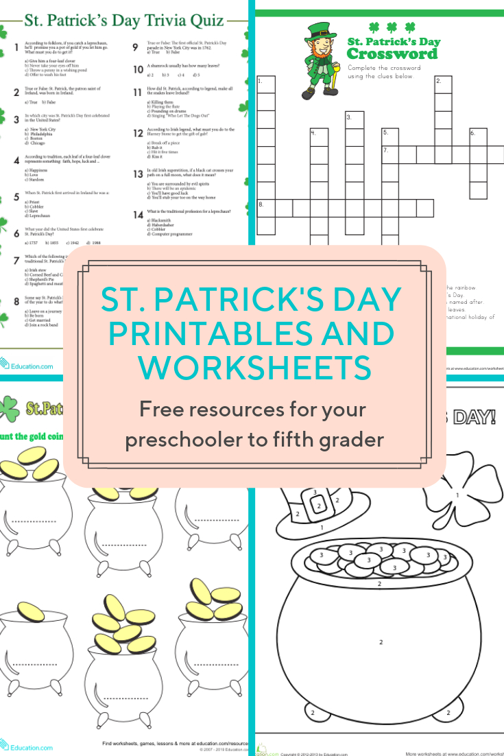 Access More Than A Hundred St. Patrick's Day Worksheets And - Free Printable St Patrick Day Worksheets