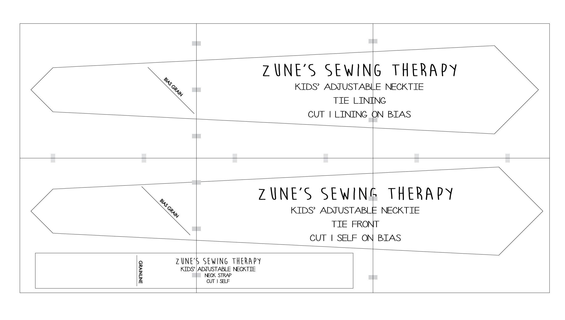 Adjustable Necktie Tutorial & Free Pattern | Sewing For Children - Free Printable Sewing Patterns Pdf