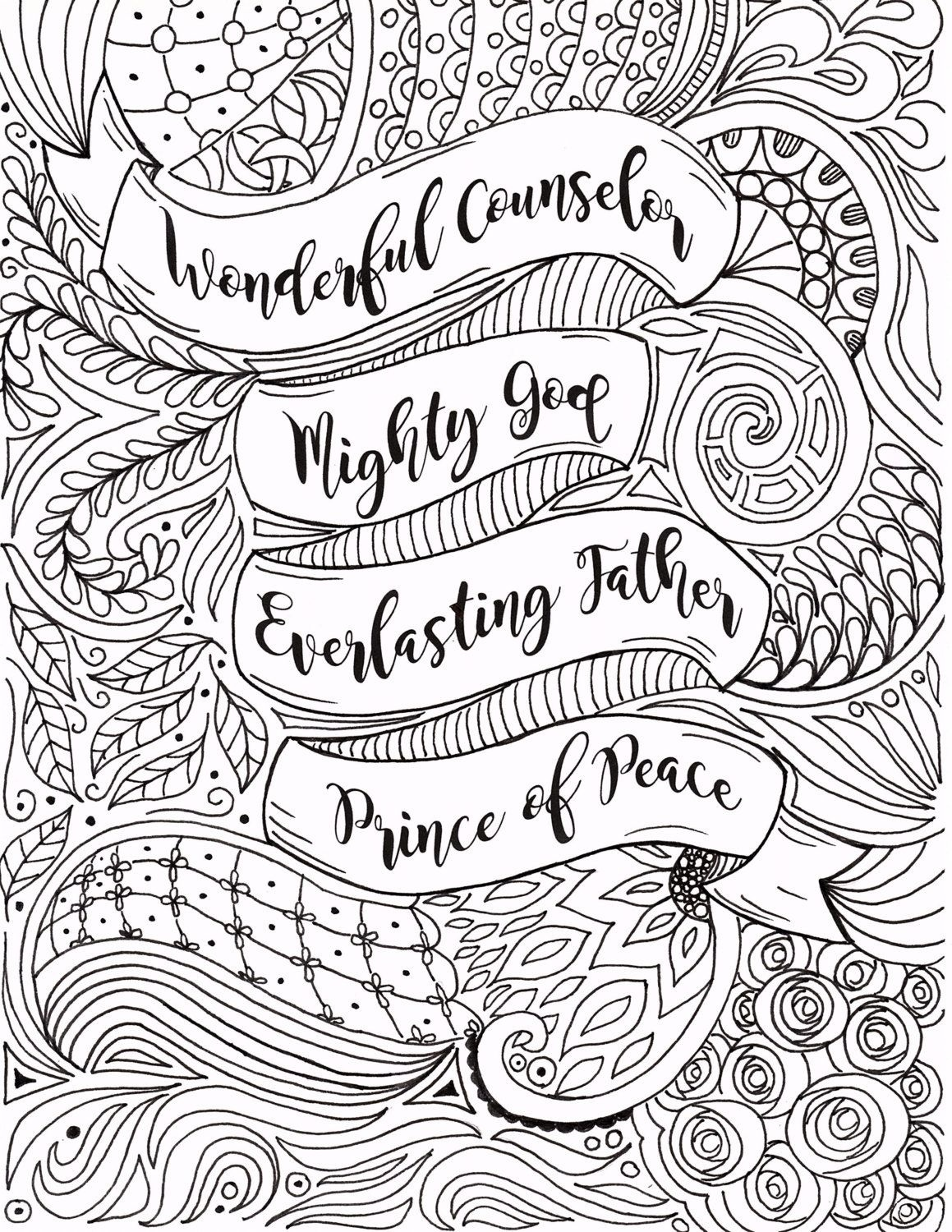 Adult Christmas Coloring Page Christianfourthavepenandink - Free Printable Bible Christmas Coloring Pages