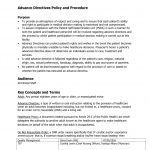 Advance Directives Policy And Procedure Fill Online, Printable   Free Printable Advance Directive Form