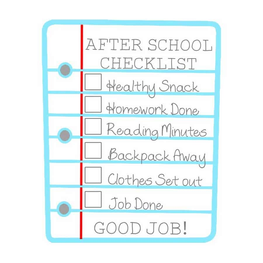 After School Checklist For Kids Free Printable - Get Out Of Homework Free Pass Printable