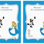 Alice In Wonderland Free Printable Birthday Party Invitations   Mad Hatter Tea Party Invitations Free Printable