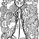 Alien Trippy Printable Coloring Page Free | Coloring Pages   Free Printable Trippy Coloring Pages