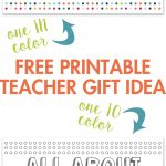 All About My Teacher Free Printable   Yellow Bliss Road   All About My Teacher Free Printable
