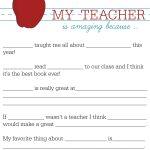 All About My Teacher   Parents: Raise A Reader Blog   Teacher   All About My Teacher Free Printable