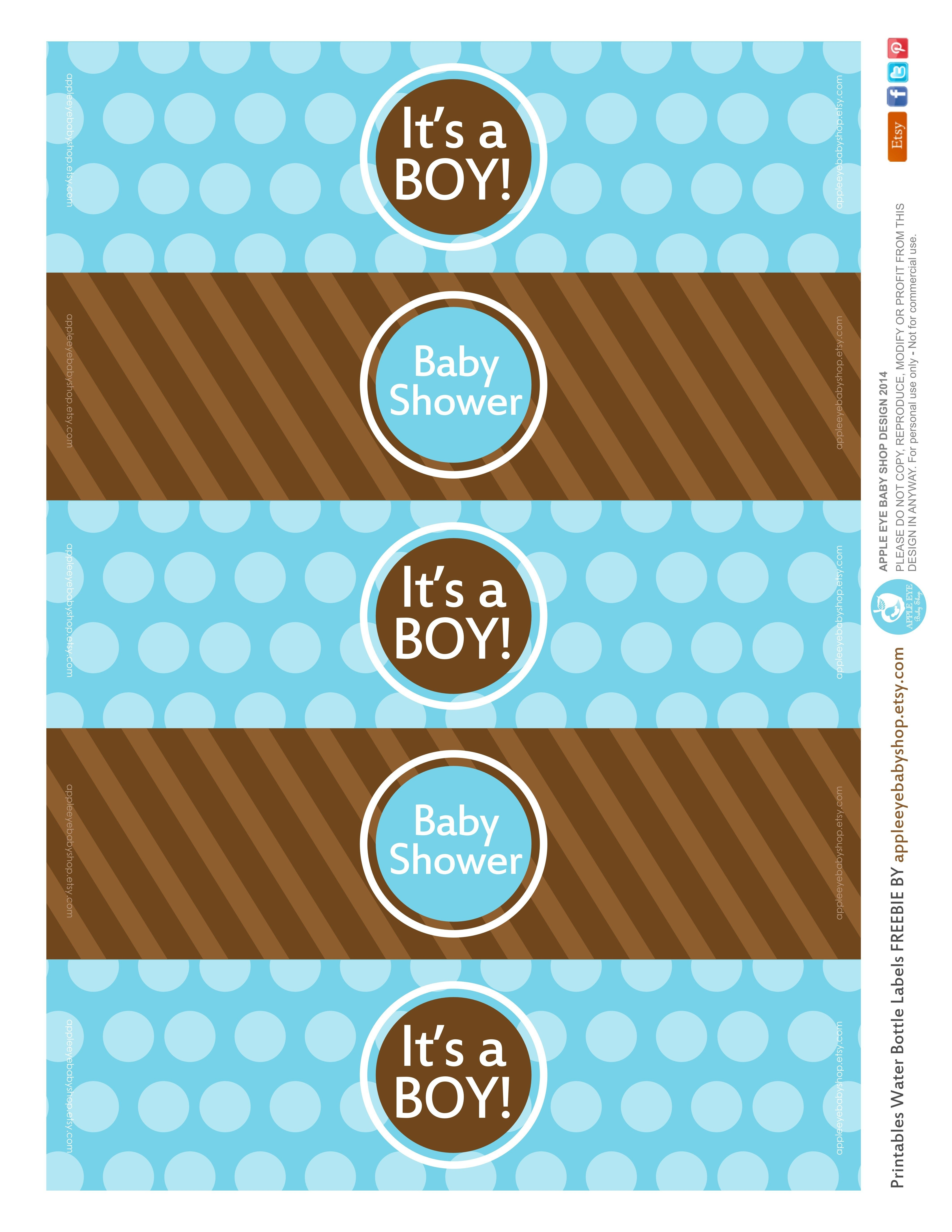 All Sizes   Free Printable   Water Bottle Labels Baby Boyapple - Free Printable Water Bottle Labels For Baby Shower
