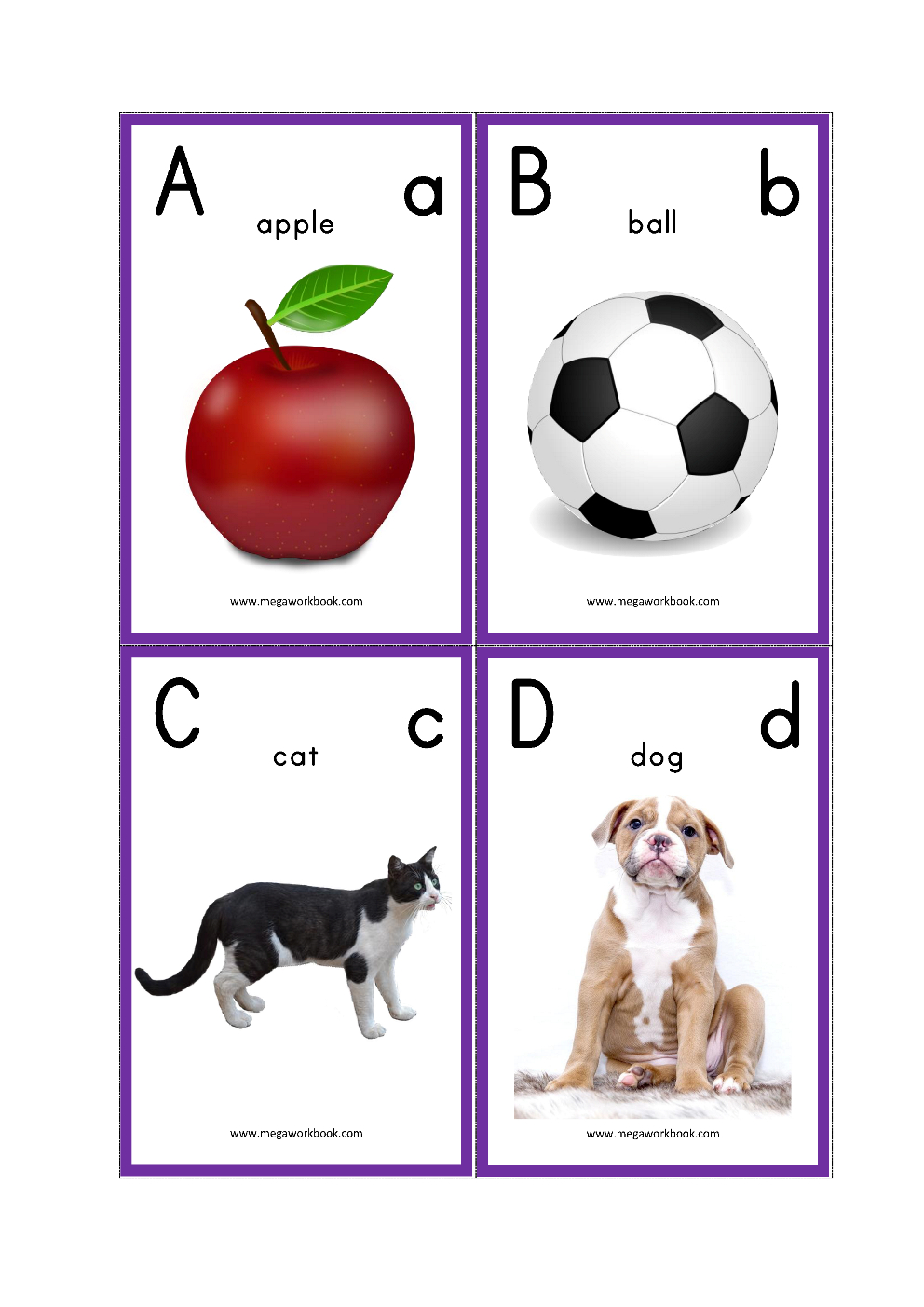 Alphabet Flash Cards - Abc Flash Cards - Letters With Pictures - Free Printable Alphabet Flash Cards