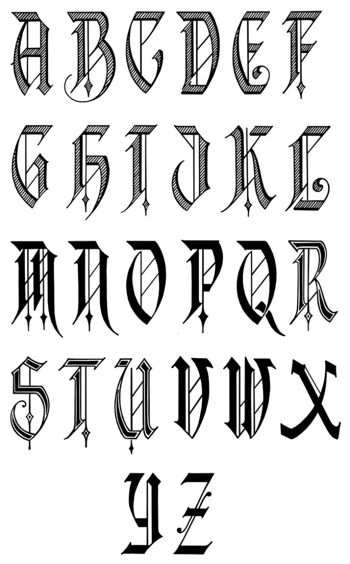 Alphabet Fonts | Free Old English Letters Fonts Alphabet Calligraphy - Free Printable Old English Letters