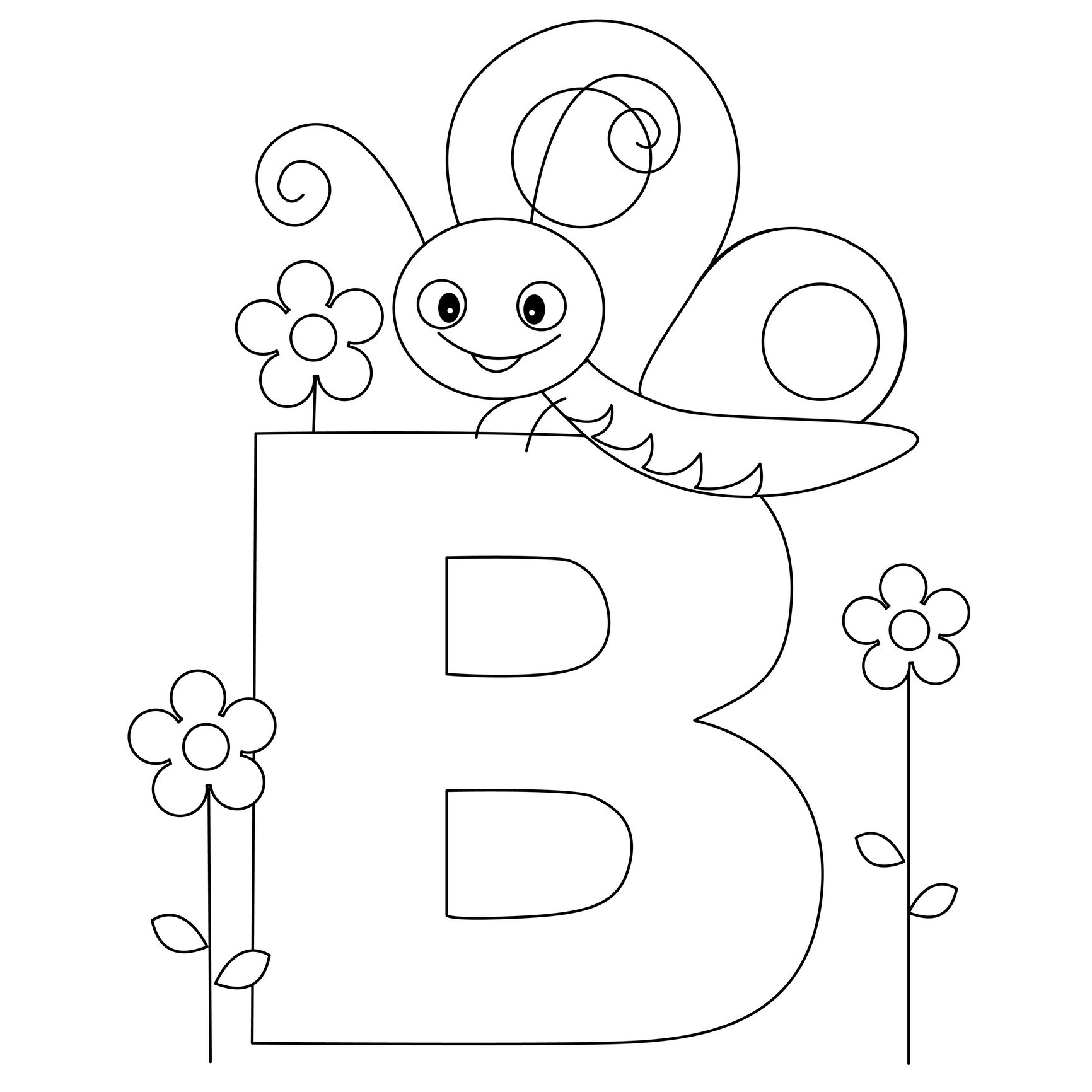 Alphabet Printable Coloring Pages | Presidencycollegekolkata - Free Printable Preschool Alphabet Coloring Pages