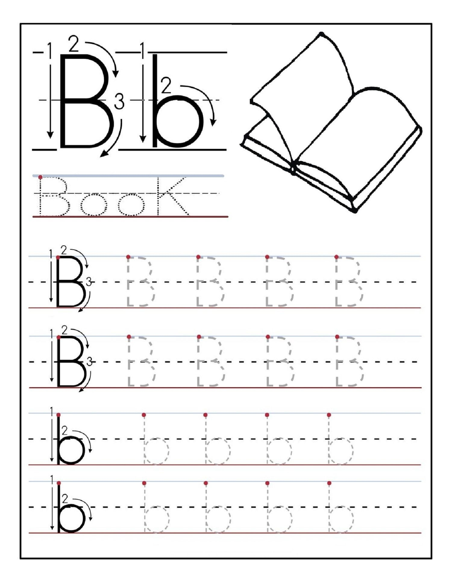 Alphabet Tracing Printables Best For Writing Introduction - Free Printable Traceable Letters