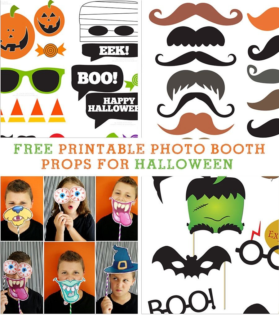 Amazing & Free Printable Photo Booth Props For Halloween | School - Free Printable Thanksgiving Photo Props