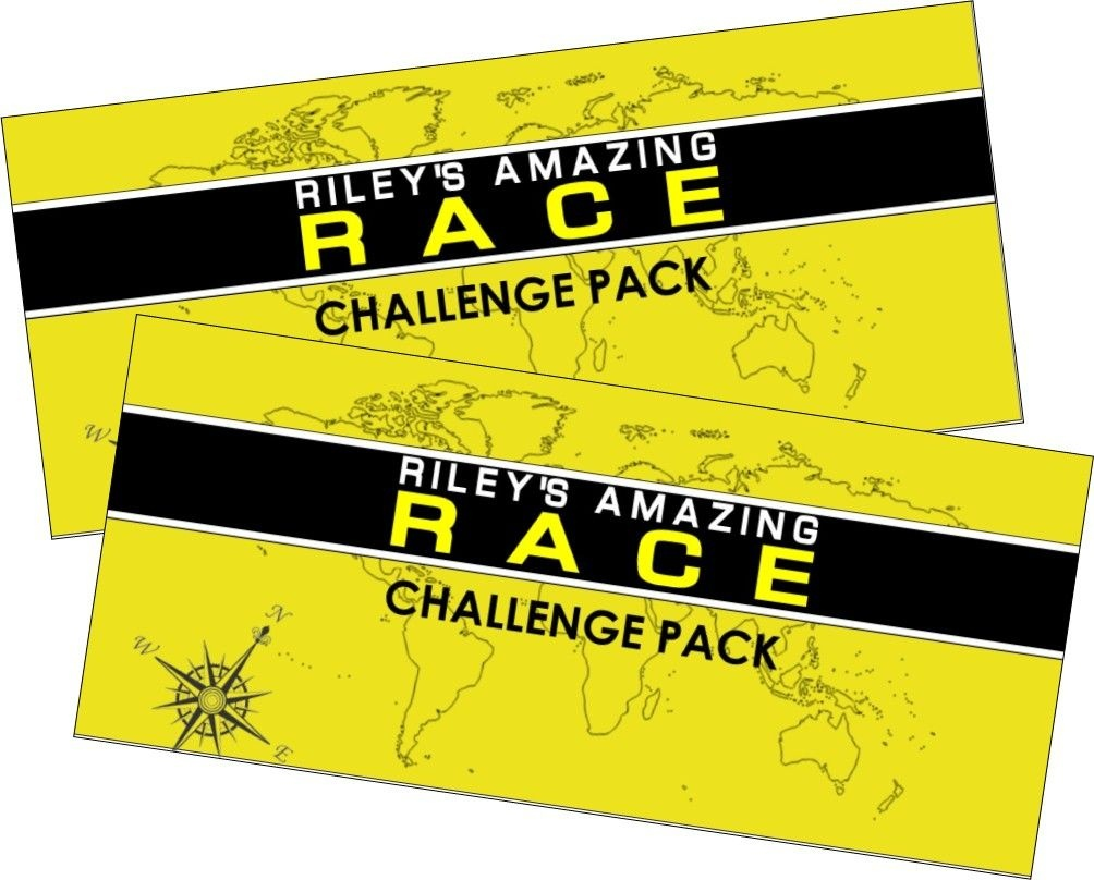 Amazing Race Party Supplies And Printables Including Invitations - Free Printable Amazing Race Invitations