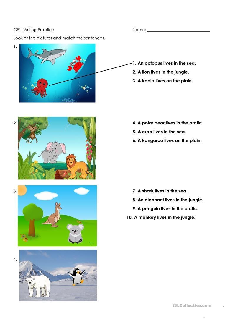 Animals And Habitats Worksheet - Free Esl Printable Worksheets Made - Free Printable Worksheets Animal Habitats
