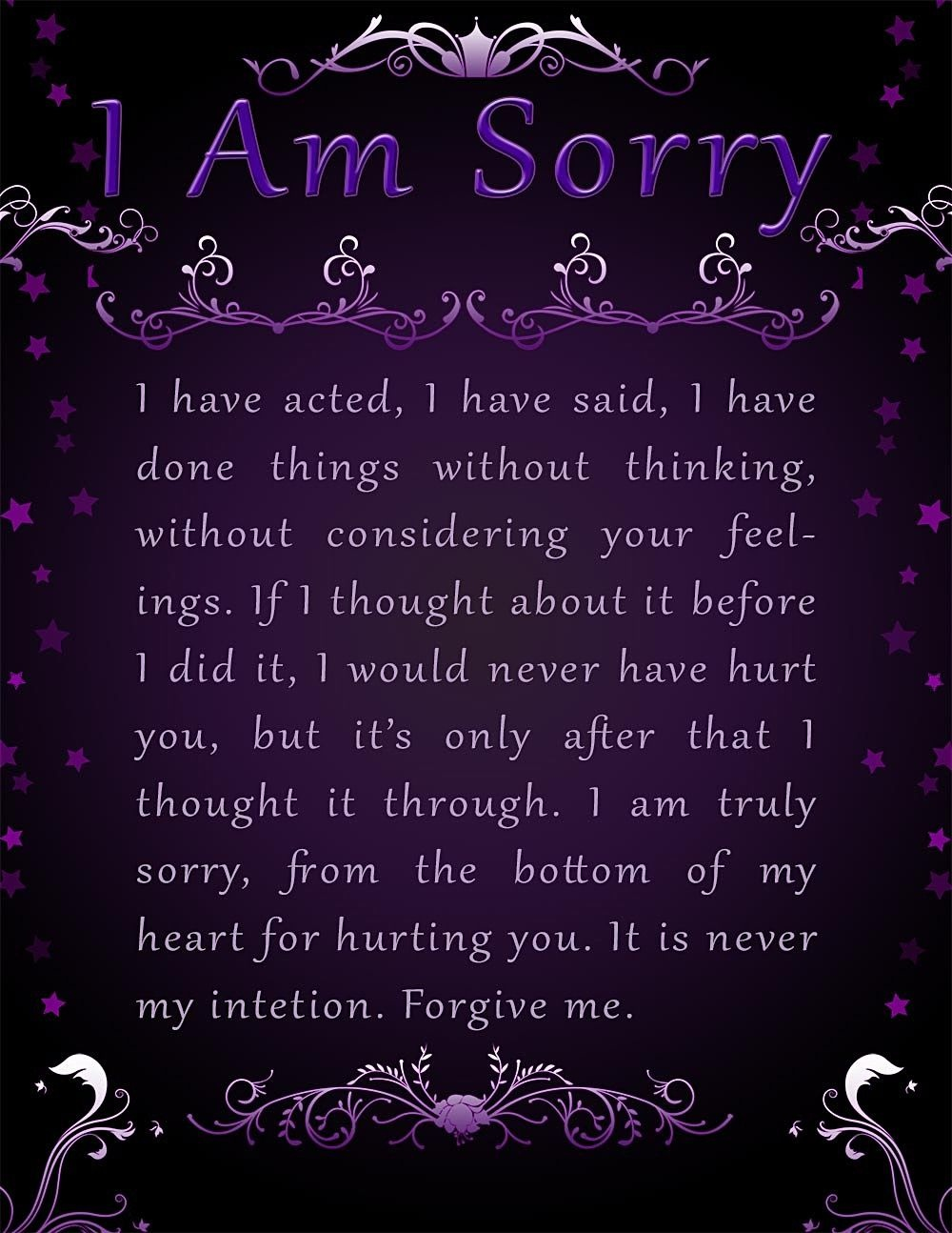 Apology Card Templates | 10+ Free Printable Word & Pdf - Free Printable I Am Sorry Cards