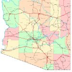 Arizona Printable Map   Free Printable Map Of Arizona