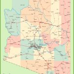 Arizona Road Map With Cities And Towns   Free Printable Map Of Arizona