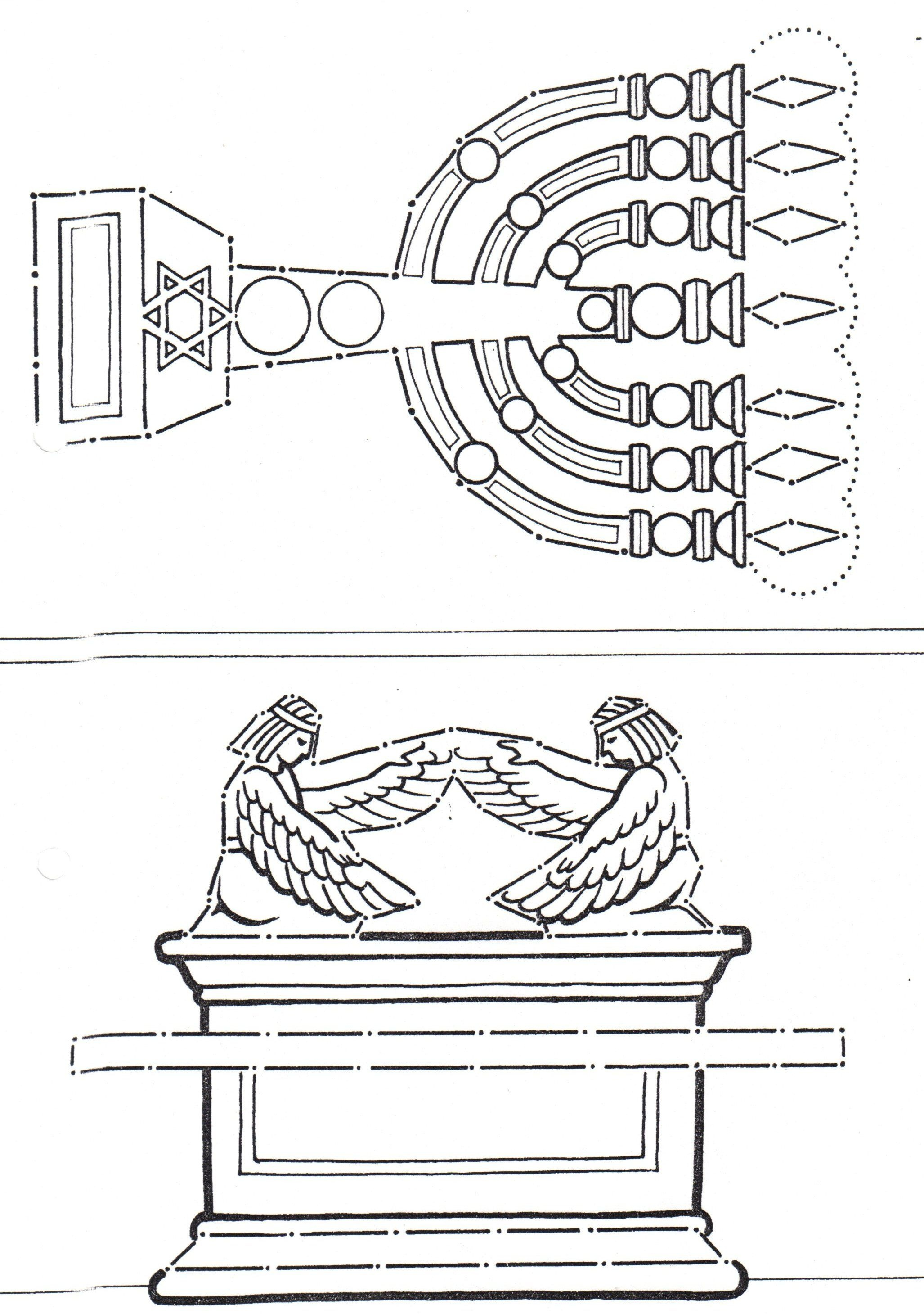 Ark Of Covenant And Lampstand From The Tabernacle And Temple - Free Printable Pictures Of The Tabernacle
