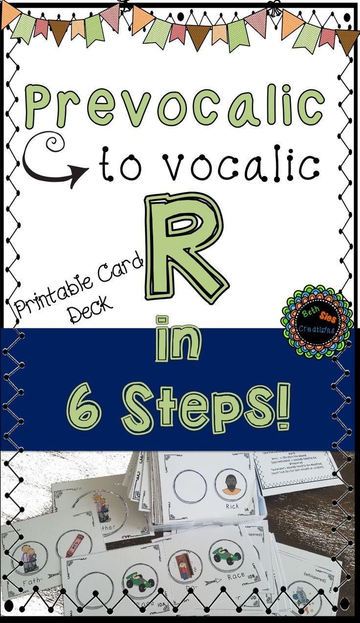 Articulation Printable Card Deck For Prevocalic To Vocalic R - Free Printable Vocalic R Worksheets
