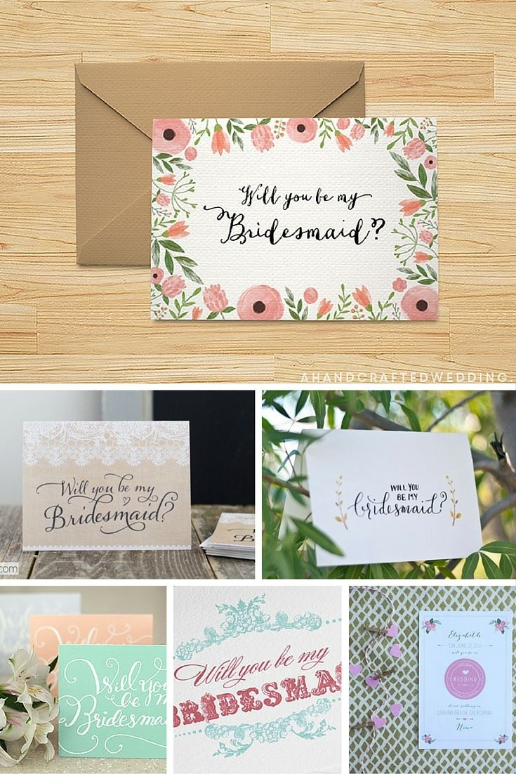 Ask Your Girlfriend To Be You Bridesmaid In Style With These Free - Free Printable Will You Be My Maid Of Honor Card