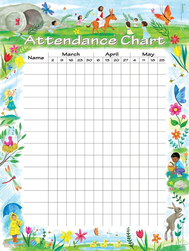 Attendance Chart | Children's Church | Attendance Chart, Sunday - Free Printable Sunday School Attendance Sheet