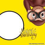 Awesome Best Free Printable Curious George Birthday Invitations Idea   Free Printable Curious George Invitations