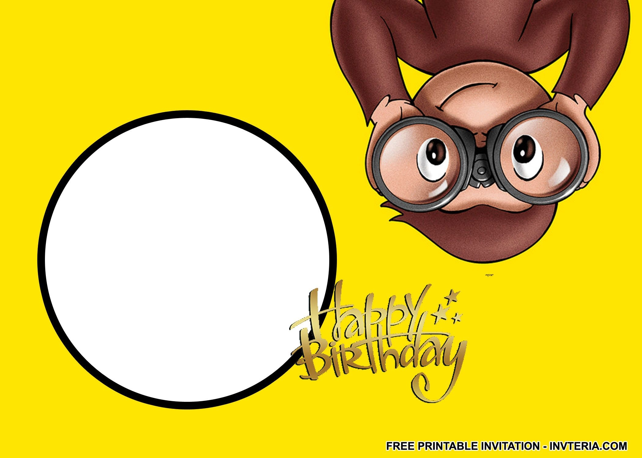 Awesome Best Free Printable Curious George Birthday Invitations Idea - Free Printable Curious George Invitations