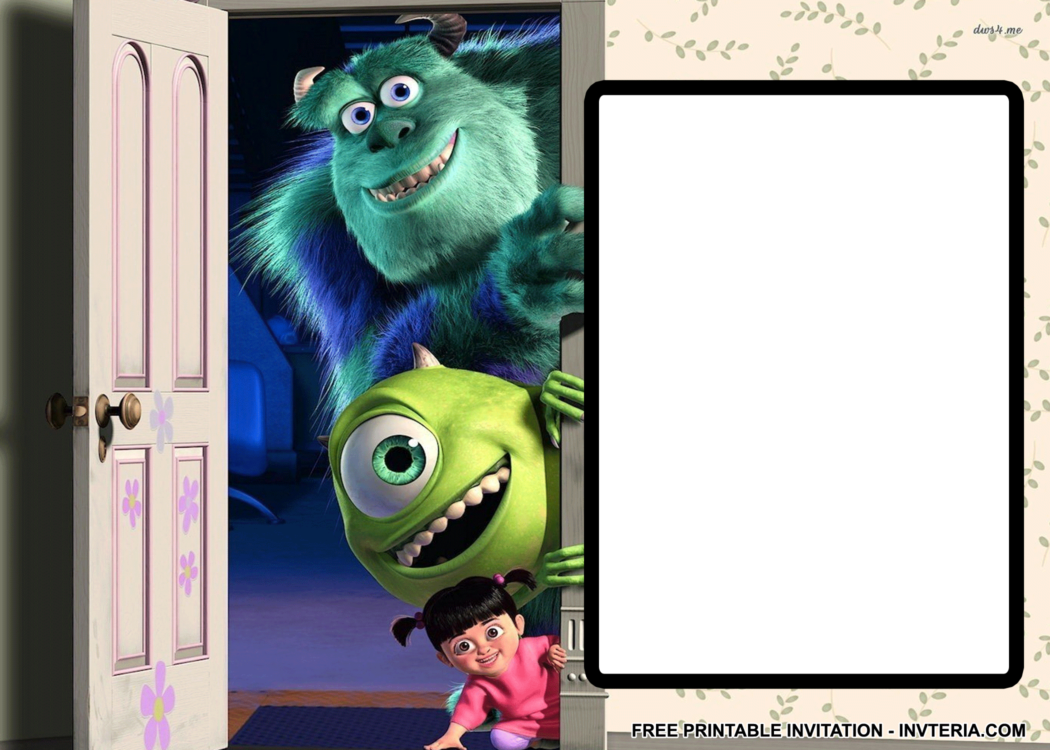 Awesome Best Free Printable Monsters Inc Birthday Invitations Idea - Free Printable Monsters Inc Birthday Invitations
