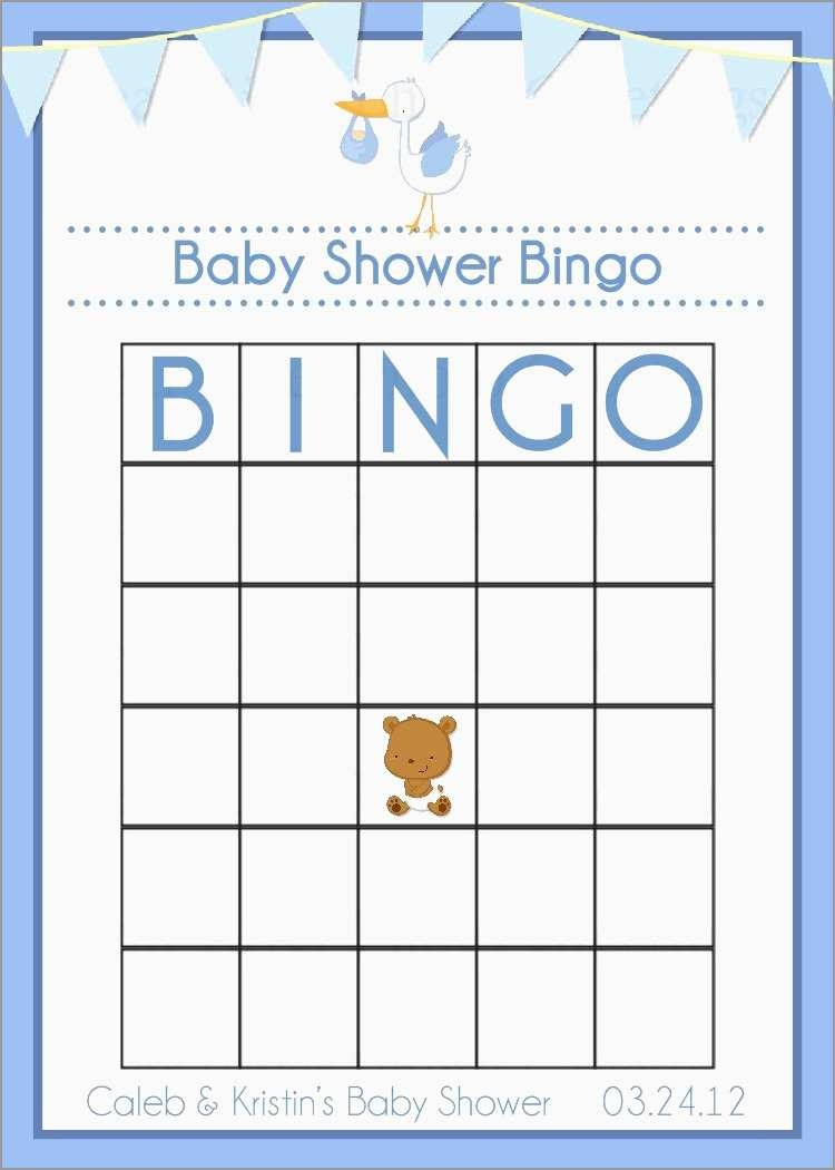 Awesome Free Baby Shower Bingo Blank Template | Best Of Template - Baby Bingo Free Printable Template