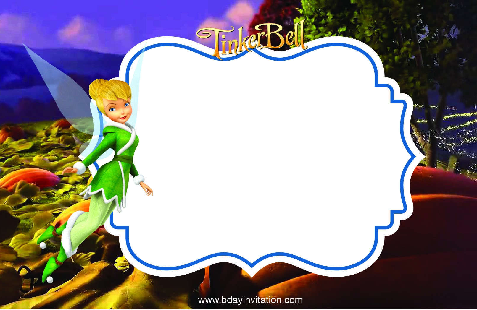 Awesome Free Printable Disney Tinkerbell Birthday Invitation - Free Tinkerbell Printable Birthday Invitations