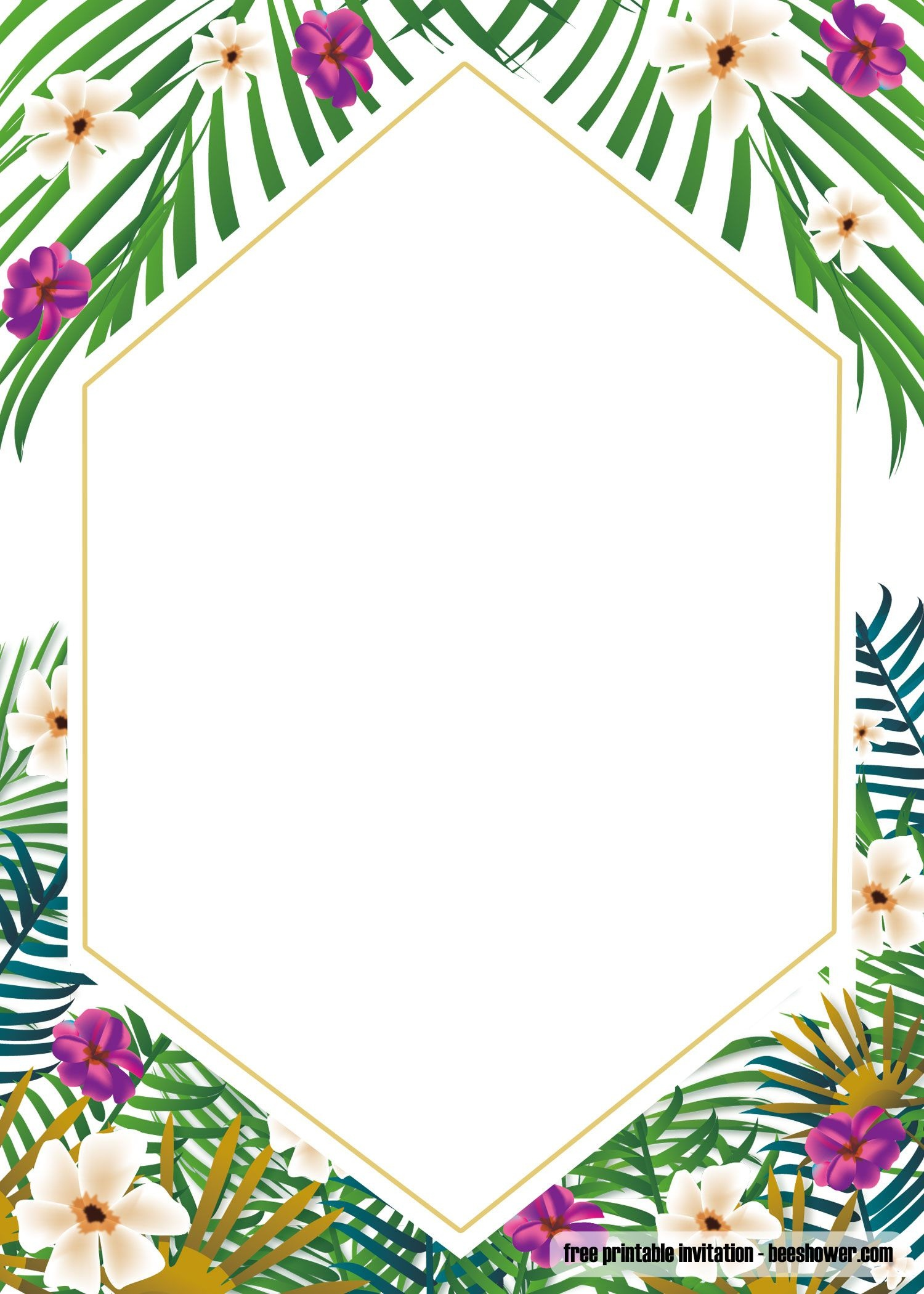 Awesome Free Printable Tropical Baby Shower Invitation Template - Free Printable Luau Baby Shower Invitations