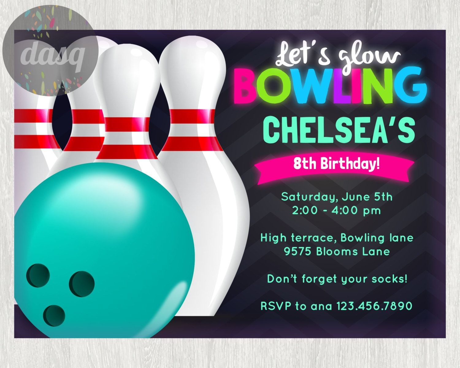 Awesome Free Template Free Printable Bowling Birthday Invitations - Free Printable Bowling Invitation Templates