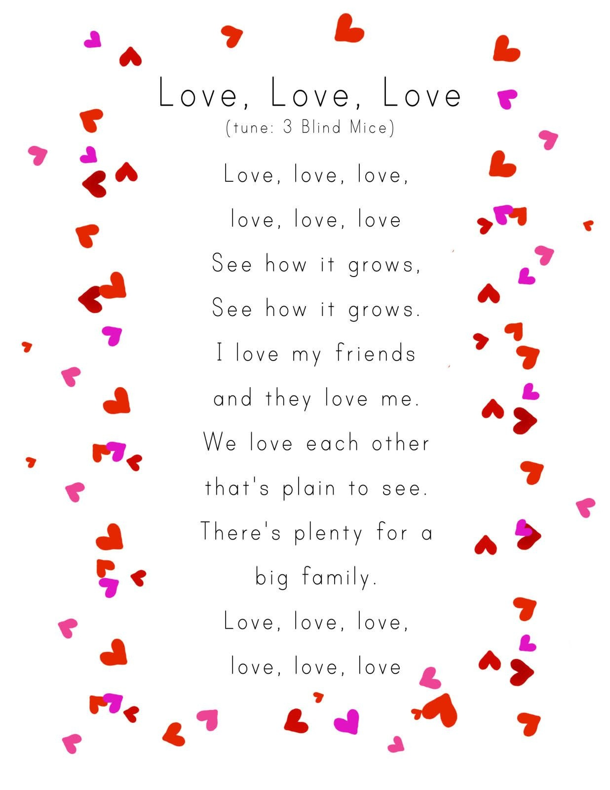 Awww For Valentine's Day Week :) | Valentine's Preschool - Free Printable Romantic Poems
