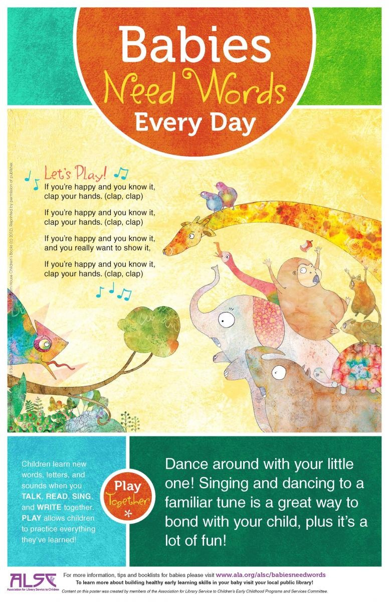 Babies Need Words Every Day: Talk, Read, Sing, Play | Association - Literacy Posters Free Printable