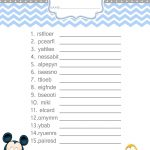 Baby Mickey Mouse Baby Shower Games   Word Scramble $3.99 | Baby   Free Printable Mickey Mouse Baby Shower Games