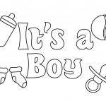 Baby Shower Coloring Pages For Boy | Careersplay | Baby Shower   Free Printable Baby Shower Coloring Pages