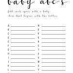Baby Shower Games Ideas {Abc Game Free Printable} | Holidays | Baby   Free Printable Baby Shower Games For Large Groups