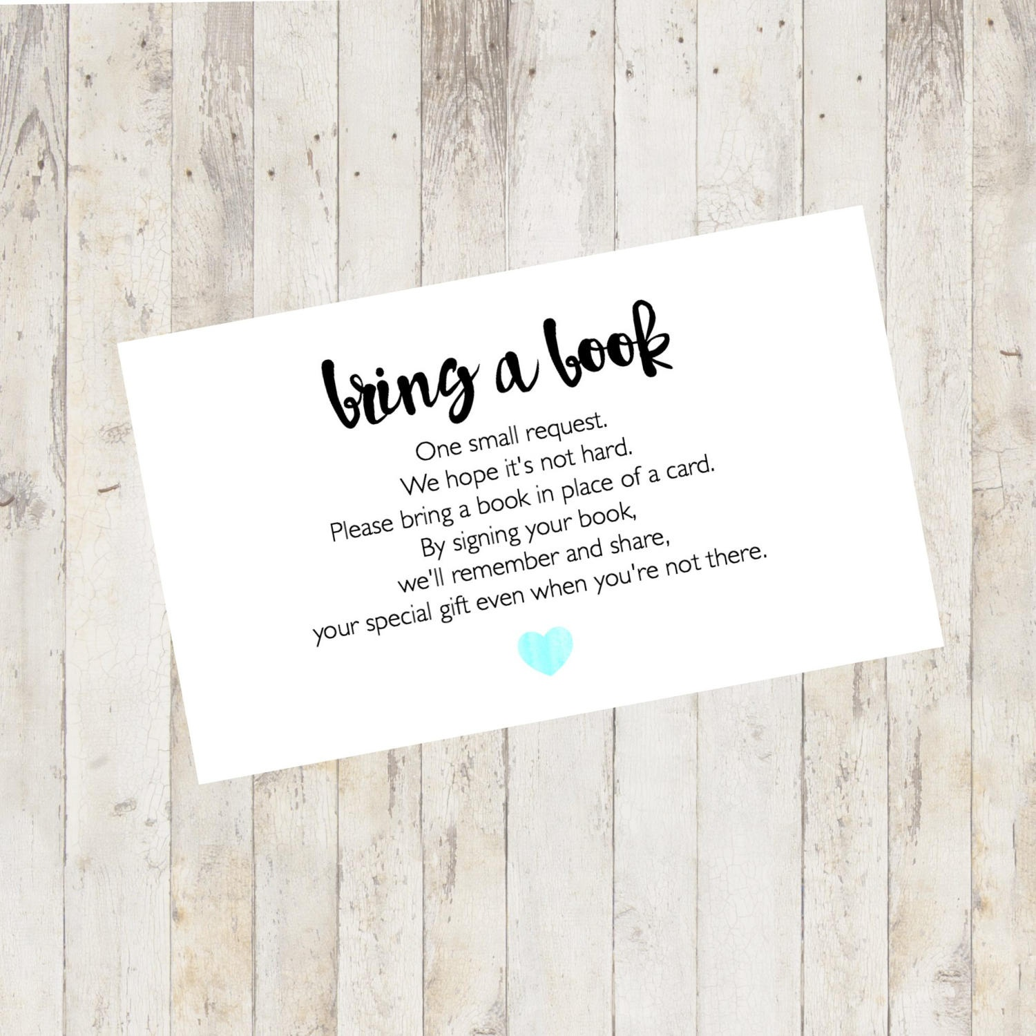 Baby Shower Printable Baby Shower Bring A Book Card Bring A | Etsy - Bring A Book Instead Of A Card Free Printable
