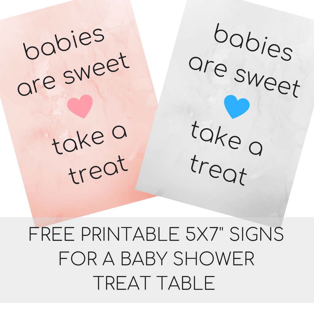 Baby Shower Sayings And Free Printable Baby Shower Signs | Liz's - Free Printable Baby Shower Table Signs